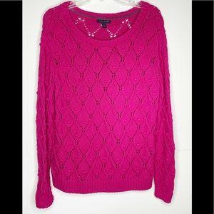 Tommy Hilfiger Pink Pom sweater Sz XL